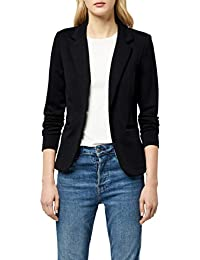 ICHI Women Long Sleeve Casual One Button Suit Blazer Jacket Basic Work Office Coat