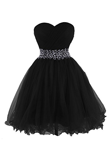 KARMA PROM Women's Sweetheart Tulle Cocktail Dress Homecoming Dress US14 - Strapless Beaded Short