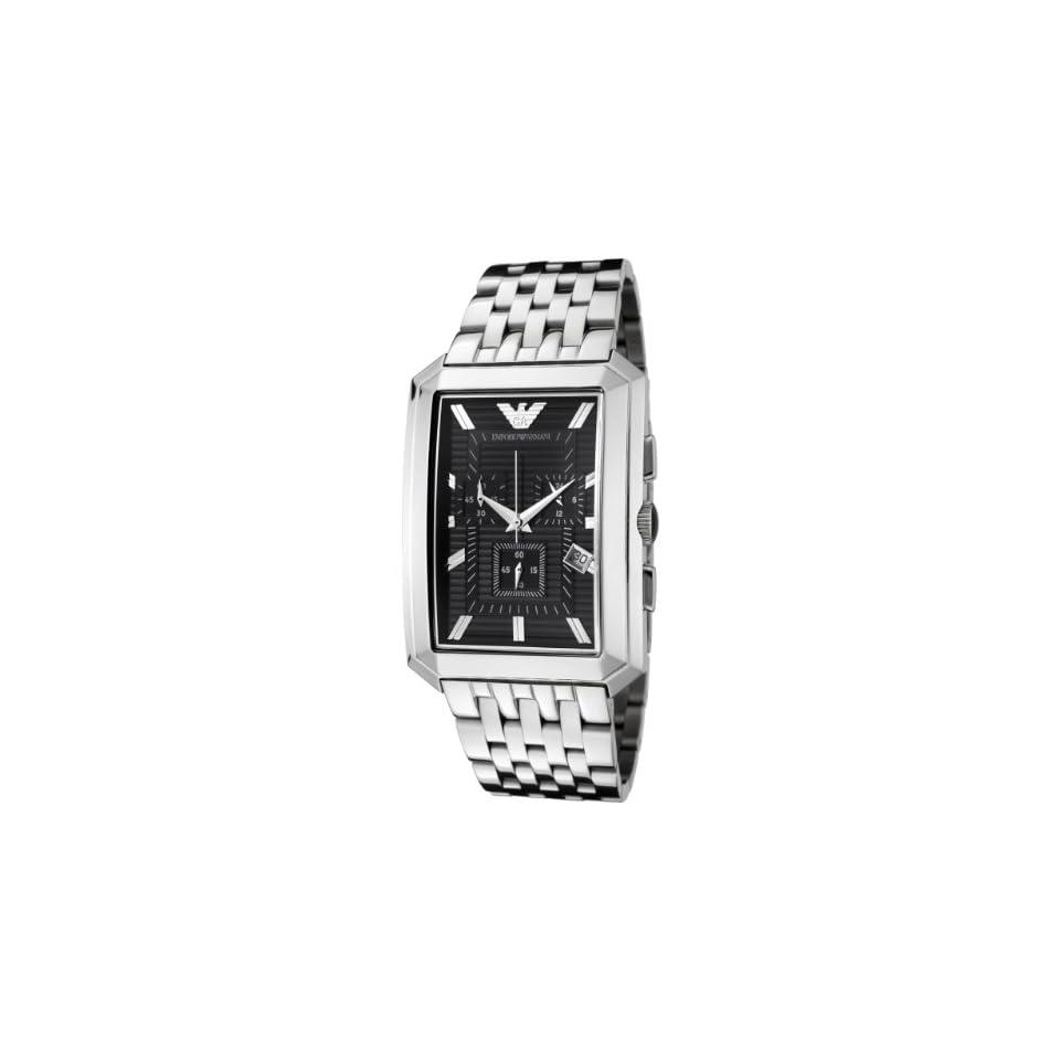 Armani Stainless Steel Quartz Black Dial Mens Watch   AR0937