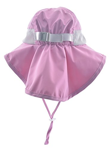 Lenikis Kids Outdoor Activities UV Protecting Sun Hats with Neck Flap Pink by Lenikis (Image #2)