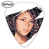 Davida Mariah Carey Celluloid Guitar Picks Plectrums (12 Pack) for Electric Guitar, Acoustic Guitar, Mandolin, and Guitar Bass