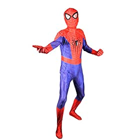 - 41HjTV 2BZxNL - OEM Spider Man Costume Screen Accurate Dye Sublimation Spiderman Faceshell Lens