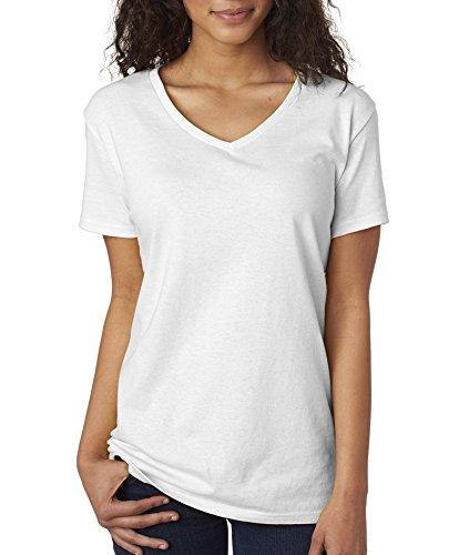 Gildan Women's Softstyle V-Neck T-Shirt - X-Large - White ()