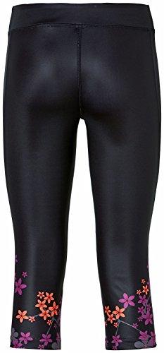 erima Feel Green - Leggings 3/4 para mujer negro - negro
