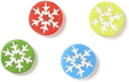 Miniature Dollhouse FAIRY GARDEN ~ North Pole CHRISTMAS Snowflake Stepping Stone