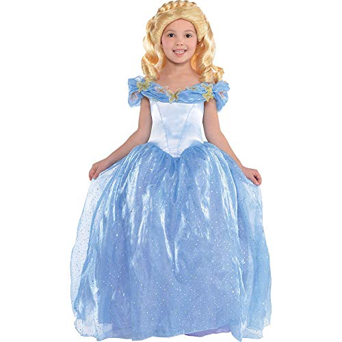 Costumes USA Disney Cinderella Movie Cinderella Costume for Girls, Size Medium, Features Faux Sequins, and a Petticoat