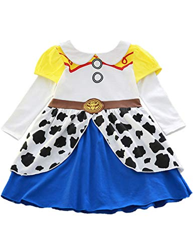 YuDanae Jessie Cowgirl Dress Fancy Outfit Costume Cosplay for Toddler Kids Girls 2-9 Years