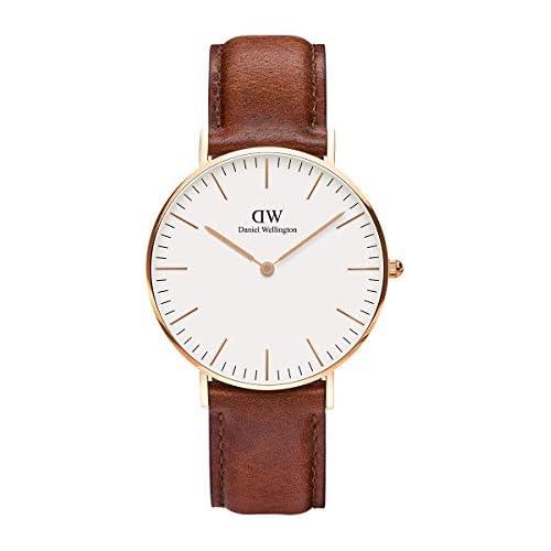 chollos oferta descuentos barato Daniel Wellington Reloj analógico para mujer de cuero color marrón