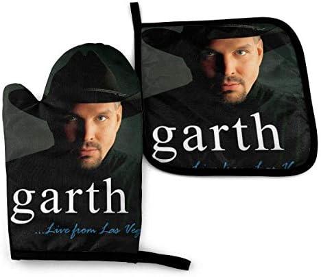 MYGED Garth Brooks Pannenlappen en pannenlapsets keuken om te grillen 2delige sets