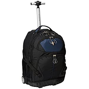 CALPAK Cato Navy Blue 18-inch Rolling 13-inch Laptop Backpack