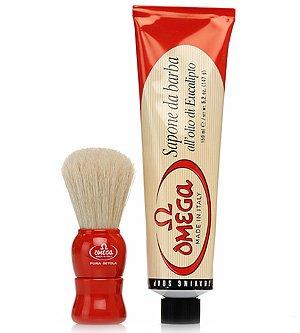 Price comparison product image OMEGA Gift Set - Brush & Tube of Shaving Cream