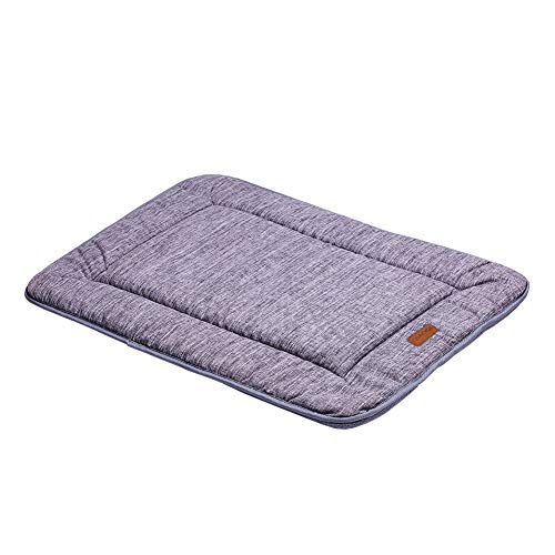(QIAOQI Dog Bed Kennel Pad Crate Mat [Grey][23