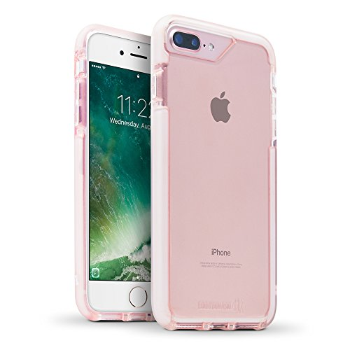 BodyGuardz - Ace Pro Case Compatible w/ Apple iPhone 7 Plus / iPhone 8 Plus, Impact and Scratch Protection for iPhone 7 Plus / 8 Plus (Pink/White)