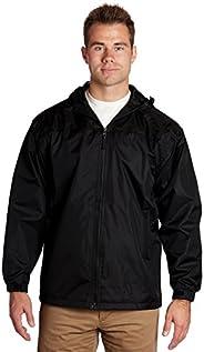 Mens Windbreaker Jackets Lightweight - Lined Hooded Pockets Full Zip - Black, Medium - éb79