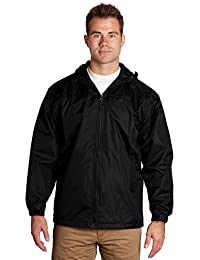 Equipment De Sport USA Men's Lined Hooded Wind Resistant/Water Repellent Windbreaker Jacket