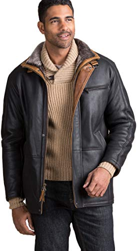 - Clairmont Spanish Merino Shearling Sheepskin Coat Black