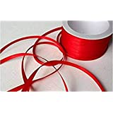 YaptheS Satin Ribbon/Gift Wrap/Decorative Band 50 m x 3 mm Red
