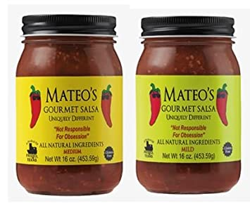 Mateos Gourmet Salsa, Medium & Mild 16 oz (Variety Pack)