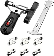 SINGARE Multi-Function Bike Bicycle Cycling Mechanic Repair Kit - Chain Breaker and Chain Checker Include 6 Pa