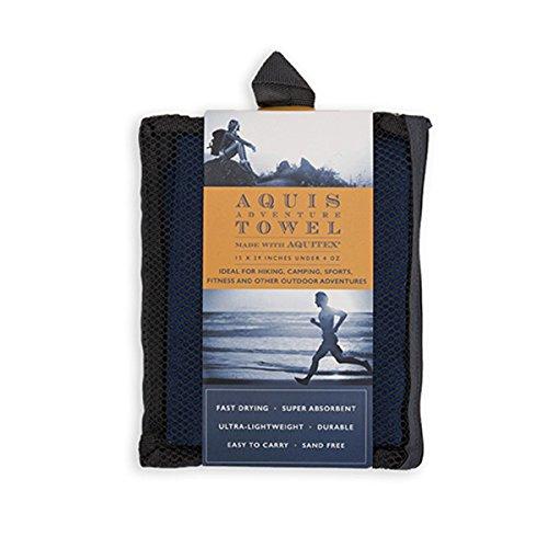 Aquis LYSB018ONSV28 SPRTSEQIP Adventure Towel Blueberry product image