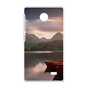 Lake Boats White Phone Case for Nokia Lumia X wangjiang maoyi by lolosakes