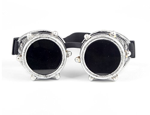 Goggles Orbit - Retro Steampunk Goggles, Spot Vintage Aviator Pilot Style Cruiser Scooter Cool & Safety Steampunk WEDING Goggles BEST for Halloween Cosplay or Hobby Collection