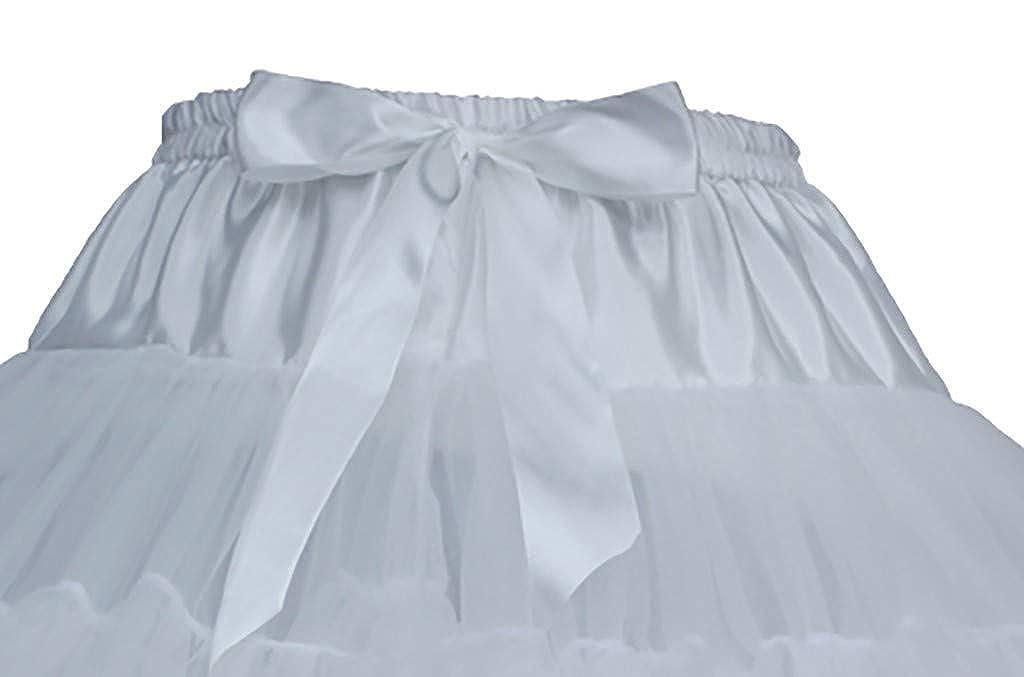 Women Girls Fluffy Carnival Tutu Pettiskirt Toddler Tulle Birthday Party Pleated Princess Tutu Skirt