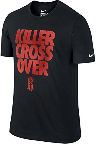 Nike Kyrie Irving Killer Cross Over Dri-Fit Cotton T-Shirt (Black-Red, XL)