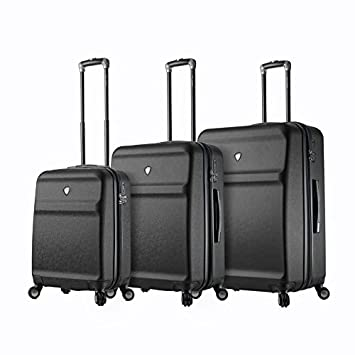 9c961597f Amazon.com | Mia Toro Men's Italy Gronchio Hardside Spinner Luggage 3pc  Set-Black | Luggage Sets