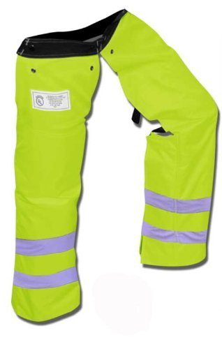 (Forester Protective Trimmer Safety Chaps, Safety Green, Large)