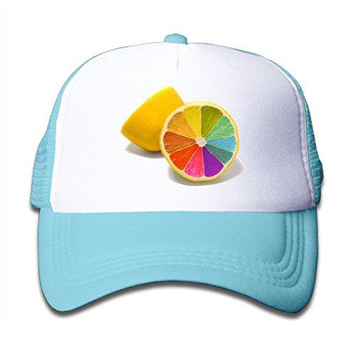 Price comparison product image Duola Rainbow Lemon Kid's Hat Unisex Cap Lightweight Mesh Flexfit SkyBlue