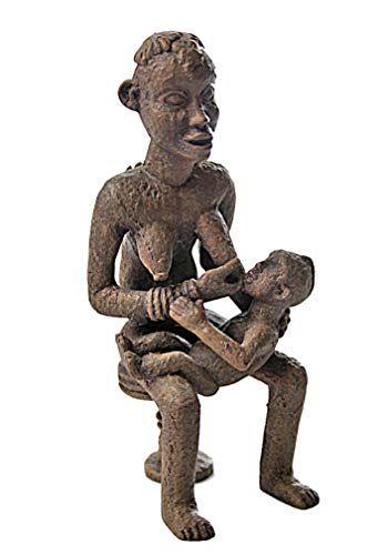 African Bangwa Anyi Mother of Twins African Statue (Fertility African Statue)