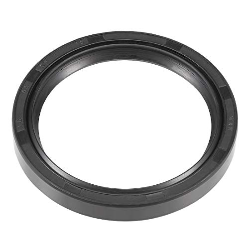(uxcell Oil Seal, TC 65mm x 80mm x 10mm, Nitrile Rubber Cover Double Lip)
