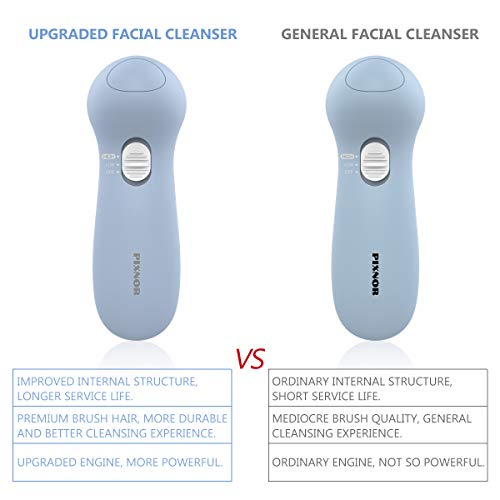 Facial Cleansing Brush [Newest], PIXNOR Waterproof Face Spin Brush with 7 Brush Heads for Deep Cleansing, Gentle Exfoliating, Removing Blackhead, Massaging 8