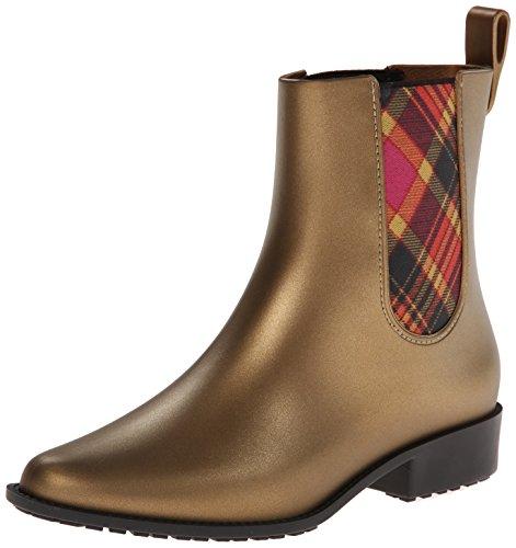 Vivienne Westwood Di Melissa Womens Riding Rain Boot Gold