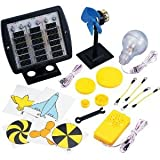 Elenco Deluxe Solar Educational Kit | 3 X 1.5 Volt Solar Cells | 5 Volt DC Motor | Experiment with Solar Power | Study Alternative Energy