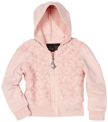 Baby Phat Big Girls' Faux Fur Hoodie Sweater
