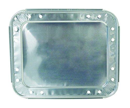 Half Vent (Durable Packaging 8200-VENT Half Size Foil Lid with Vent Holes, 13