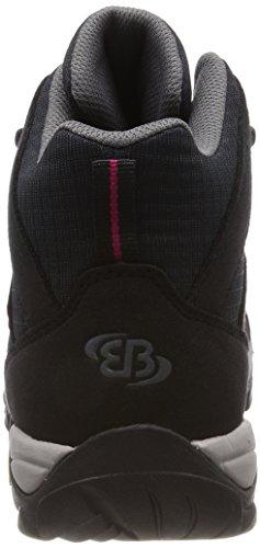 Bruetting Mount Frakes, Zapatos de High Rise Senderismo Para Mujer Negro (Schwarz/pink)