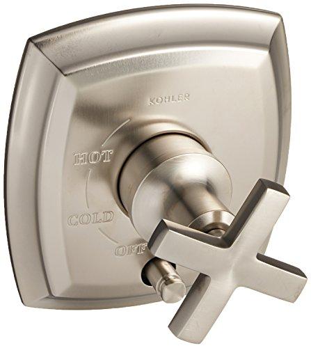 Kohler K-T98759-3-Bn Margaux Rite-Temp Pressure-Balancing Valve Trim With Push-Button Diverter & Cross Handles, Valve Not Included Vibrant Brushed Nickel (Handle Margaux Single Nickel)