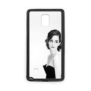 Samsung Galaxy Note 4 Cell Phone Case Black Emma Watson In Black Dress 2 Digvv