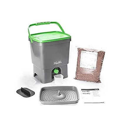 Compostador Bokashi 16 litros + 1 kg de activador Bokashi: Amazon ...