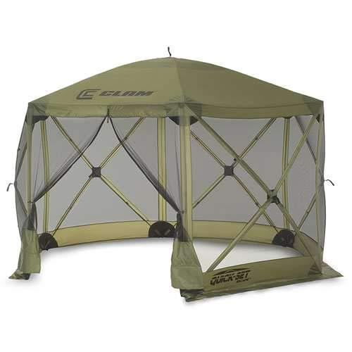 Quick Set 9281 Escape Shelter, 140 x 140 Portable Popup Gazebo Durable Tent Bug and Rain Protection Easy Setup (6-8 Person), Forest, 12 x 12, ()