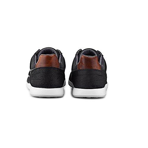 Cox Freizeit-Schnürer, Schwarze Sneaker IM gefragten Vintage-Look Schwarz