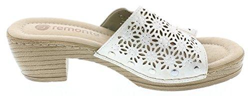 Remonte Mujeres Zapatos abiertos blanco, (ICE) D6951-90