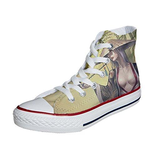 Converse All Star zapatos personalizados (Producto Artesano) Geisha style