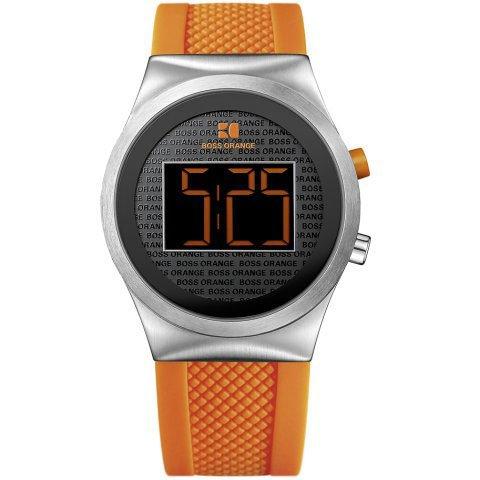Hugo Boss 1512689 Digital Orange Collection Rubber Strap Men's Watch