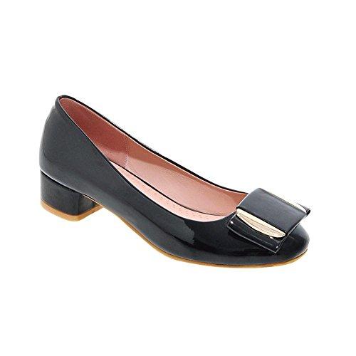 Show Shine Womens Fashion Sweet Casual Loafers Shoes Black HheBviHi