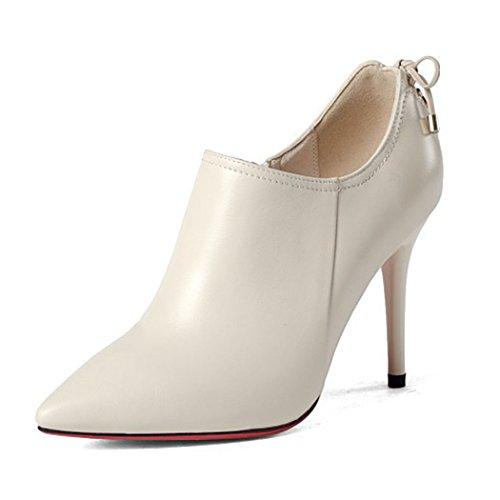 de Boda de Tacón Cremallera Banquete Banquete Tamaño Puntiagudos Carrera Alto Lateral Talones Mujer Zapatos Trabajo Solteros de de Estilete white de de de Zapatos Moda Creamy de Zapatos Zapatos GAOLIXIA 57xBgg