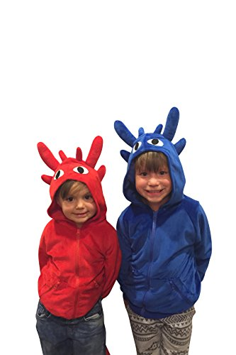 Halloween Costumes Kids Dragon Costume Child Dragon Sweatshirt Dragon Hoodie (18-24mo, Red)]()